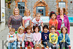 Junior Infants at the Tralee Educate Together school with their Teacher Gail Kelly and Principal Mary Brosnan.