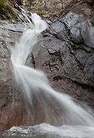 The base of Seven Falls, near Colorado Springs