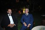 CESARE ROMITI CON VALENTINO D'ADDARIO<br /> SERATA ORGANIZZATA DAL PROFESSOR VIETTI ALLA CASINA DELL'AURORA ROMA 2007