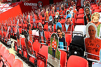 General view of Charlton's pop up fans in the Covered End during Charlton Athletic vs Wigan Athletic, Sky Bet EFL Championship Football at The Valley on 18th July 2020