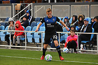 SAN JOSE, CA - MARCH 7: Tommy Thompson #22 of the San Jose Earthquakes during a game between Minnesota United FC and San Jose Earthquakes at Earthquakes Stadium on March 7, 2020 in San Jose, California.
