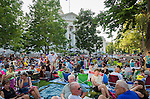 The Wisconsin Chamber Orchestra performs a Concert on the Square in front of the State Capitol in Madison, Wisconsin.