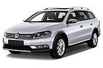 Front three quarter view of a 2013 Volkswagen Passat Alltrack Wagon