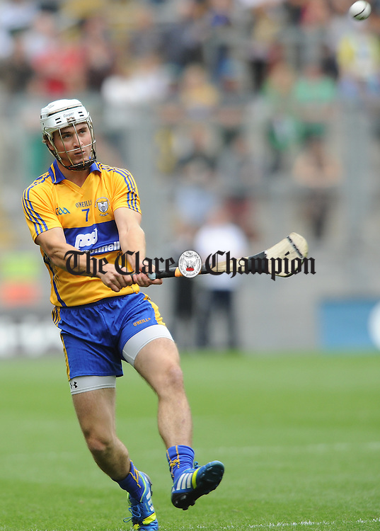 Pat O Connor of Clare during the All-Ireland senior championship semi final against Limerick at Croke Park. Photograph by John Kelly.
