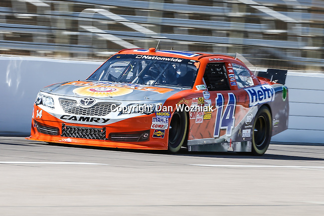 Nationwide Series driver Eric McClure (14) in action during the NASCAR Nationwide Series qualifying at Texas Motor Speedway in Fort Worth,Texas.