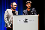 Borja Cobeaga and Maxi Iglesias during the opening ceremony of the Festival de Cine Fantastico de Sitges in Barcelona. October 07, Spain. 2016. (ALTERPHOTOS/BorjaB.Hojas)