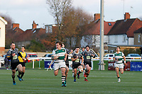 Ealing Trailfinders RFC break away during the Championship Cup Quarter Final match between Ealing Trailfinders and Nottingham Rugby at Castle Bar , West Ealing , England  on 2 February 2019. Photo by Carlton Myrie / PRiME Media Images.