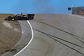#51: Romain Grosjean, Dale Coyne Racing with Rick Ware Racing Honda, spin