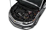 Car Stock 2018 Chevrolet Volt LT 5 Door Hatchback Engine  high angle detail view