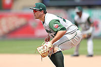 Fort Wayne TinCaps first baseman Brad Zunica (35) on defense against the West Michigan Michigan Whitecaps during the Midwest League baseball game on April 26, 2017 at Fifth Third Ballpark in Comstock Park, Michigan. West Michigan defeated Fort Wayne 8-2. (Andrew Woolley/Four Seam Images via AP Images)