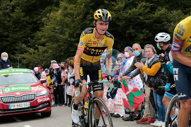 Sepp Kuss (USA) Team Jumbo-Visma climbs Col de Marie Blanque during Stage 9 of Tour de France 2020, running 153km from Pau to Laruns, France. 6th September 2020. <br /> Picture: Colin Flockton | Cyclefile<br /> All photos usage must carry mandatory copyright credit (© Cyclefile | Colin Flockton)