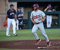 Stanford, Ca - June 3, 2019: The Stanford Cardinal vs Fresno State Bulldogs NCAA Regional baseball game at Sunken Diamond in Stanford, CA.