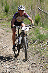 Meg Bichard (77) edges down the slope. Mammoth Adventure MTB Ride, Nelson<br /> Photo: Marc Palmano/shuttersport.co.nz