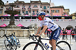 Remco Evenepoel (BEL) Deceuninck-Quick Step wearing the Maglia Bianca arrives at sign on before the start of Stage 9 of the 2021 Giro d'Italia, running 158km from Castel di Sangro to Campo Felice (Rocca di Cambio), Italy. 16th May 2021.  <br /> Picture: LaPresse/Gian Mattia D'Alberto | Cyclefile<br /> <br /> All photos usage must carry mandatory copyright credit (© Cyclefile | LaPresse/Gian Mattia D'Alberto)