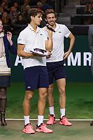 Rotterdam, The Netherlands, 18 Februari, 2018, ABNAMRO World Tennis Tournament, Ahoy, Doubles final,Winners  Pierre-Hugues Herbert (FRA) / Nicolas Mahut (FRA), <br /> <br /> Photo: www.tennisimages.com