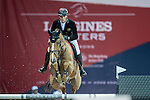 Olivier Philippaerts of Belgium riding on Ikker competes during the EEM Trophy, part of the Longines Masters of Hong Kong on 10 February 2017 at the Asia World Expo in Hong Kong, China. Photo by Juan Serrano / Power Sport Images