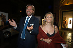 BERNABO' BOCCA CON LA MOGLIE BENEDETTA GERONZI<br /> INAUGURAZIONE PALAZZO FENDI ROMA 2005