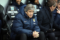 Wednesday, 01 January 2014<br /> Pictured: Manchester City manager Manuel Pellegrini.<br /> Re: Barclay's Premier League, Swansea City FC v Manchester City at the Liberty Stadium, south Wales.