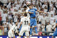 Real Madrid's Nacho Fernandez (l) and Getafe CF's Leandro Cabrera during La Liga match. August 19,2018.  *** Local Caption *** © pixathlon<br /> Contact: +49-40-22 63 02 60 , info@pixathlon.de