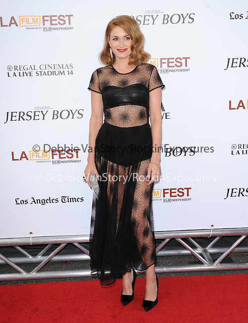 """Erica Piccininni attends The Los Angeles Film Festival 2014 Closing Night Premiere of Warner bros. Pictures """"Jersey Boys"""" held at The Regal Cinemas L.A. Live in Los Angeles, California on June 19,2014                                                                               © 2014 Hollywood Press Agency"""