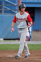 Lowell Spinners Outfielder Bryce Brentz (14) during a game vs. the Batavia Muckdogs at Dwyer Stadium in Batavia, New York July 16, 2010.   Batavia defeated Lowell 5-4 with a walk off RBI single.  Photo By Mike Janes/Four Seam Images