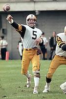 Ralph Dieter Brock Hamilton Tiger Cats quarterback 1983. Copyright photograph Scott Grant