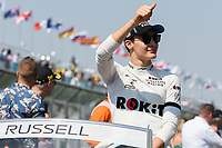 March 17, 2019: George Russell (GBR) #63 from the Williams Racing team waves to the crowd during the drivers parade prior to the start of the 2019 Australian Formula One Grand Prix at Albert Park, Melbourne, Australia. Photo Sydney Low