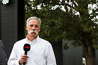 13th March 2020; Melbourne Grand Prix Circuit, Melbourne, Victoria, Australia; Formula One, Australian Grand Prix, Practice Day; Chase Carey talks to the media about the cancellation of the Grand Prix  due to one of the Renault crew being tested positive for the Corona Virus