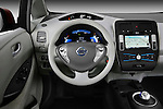 Steering wheel view of a 2011 Nissan Leaf SL