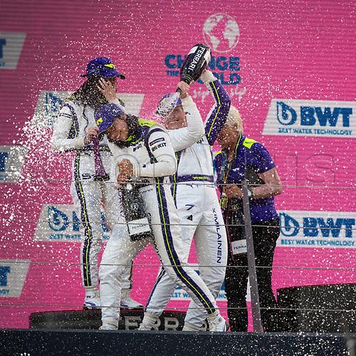 July 4th 2021; Red Bull Ring, Spielberg, Austria; W-Series F1 Grand Prix of Austria, race day; Emma Kimilaeinnen Ecurie, Jamie Chadwick Veloce Racing and Irina Sidorkova W Series  celebrate on podium