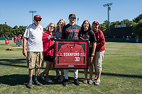 STANFORD, CA - MAY 29: Zach Grech and family after a game between Oregon State University and Stanford Baseball at Sunken Diamond on May 29, 2021 in Stanford, California.