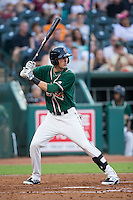 Zach Sullivan (24) of the Greensboro Grasshoppers at bat against the Greenville Drive at NewBridge Bank Park on August 17, 2015 in Greensboro, North Carolina.  The Drive defeated the Grasshoppers 5-4 in 13 innings.  (Brian Westerholt/Four Seam Images)