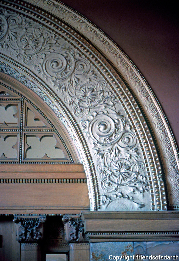 Louis Sullivan: Adler & Sullivan Auditorium Bldg. Interior detail.  Photo '78.