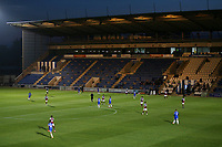 General view of the action behind closed doors during Colchester United vs West Ham United Under-21, EFL Trophy Football at the JobServe Community Stadium on 29th September 2020