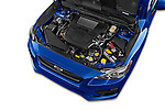 Car Stock 2015 Subaru Wrx - 4 Door Sedan 2WD Engine high angle detail view