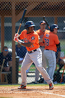 Houston Astros Jose Fernandez (21) during a minor league Spring Training game against the Detroit Tigers on March 30, 2016 at Tigertown in Lakeland, Florida.  (Mike Janes/Four Seam Images)
