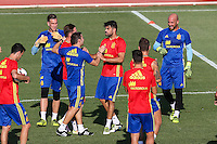Spanish Diego Costa during the first training of the concentration of Spanish football team at Ciudad del Futbol de Las Rozas before the qualifying for the Russia world cup in 2017 August 29, 2016. (ALTERPHOTOS/Rodrigo Jimenez) /NORTEPHOTO
