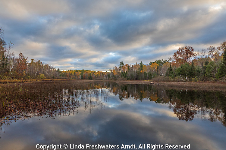 A pretty autumn view on the Chippewa River in the Chequamegon National Forest.