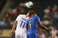 PHILADELPHIA, PENNSYLVANIA - JUNE 30: Jordan Morris #11, Jurich Carolina #5 during the 2019 CONCACAF Gold Cup quarterfinal match between the United States and Curacao at Lincoln Financial Field on June 30, 2019 in Philadelphia, Pennsylvania.