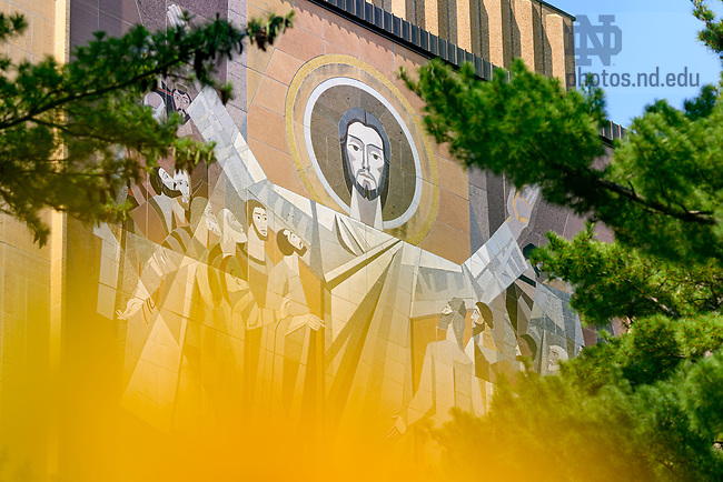 June 11, 2021; Word of Life Mural, commonly known as Touchdown Jesus (Photo by Matt Cashore/University of Notre Dame)