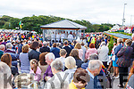 Noel and Margaret Kerins and Francis O'Donnell (Derrymore West) at the Ballyheigue Pattern Day Mass on Sunday