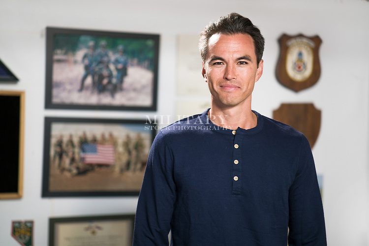 Male US military veteran portrait model-released, stock photo, DOD compliant, for sale, for advertising