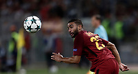Football Soccer: UEFA Champions League AS Roma vs Atletico Madrid Stadio Olimpico Rome, Italy, September 12, 2017. <br /> Roma's Gregoire Defrel in action during the Uefa Champions League football soccer match between AS Roma and Atletico Madrid at at Rome's Olympic stadium, September 12, 2017.<br /> UPDATE IMAGES PRESS/Isabella Bonotto