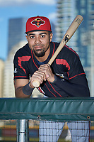 Rochester Red Wings outfielder LaMonte Wade Jr. (4) poses for a photo prior to the game against the Charlotte Knights at BB&T BallPark on May 14, 2019 in Charlotte, North Carolina. The Knights defeated the Red Wings 13-7. (Brian Westerholt/Four Seam Images)