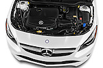 Car Stock 2016 Mercedes Benz CLA Class CLA250 4 Door Sedan Engine  high angle detail view