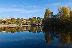 DEU, Deutschland, Bayern, Niederbayern, Naturpark Bayerischer Wald, Luftkurort Grafenau: Kurpark, Kurparksee | DEU, Germany, Bavaria, Lower-Bavaria, Nature Park Bavarian Forest, Grafenau: resort park, pond