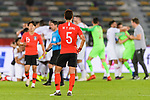 Jung Wooyoung of South Korea (L) reacts after lossing the AFC Asian Cup UAE 2019 Quarter Finals match between Qatar (QAT) and South Korea (KOR) at Zayed Sports City Stadium  on 25 January 2019 in Abu Dhabi, United Arab Emirates. Photo by Marcio Rodrigo Machado / Power Sport Images