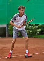 August 8, 2014, Netherlands, Rotterdam, TV Victoria, Tennis, National Junior Championships, NJK,  Alec Deckers (NED)<br /> Photo: Tennisimages/Henk Koster