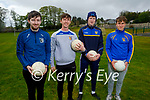 Ballymac GAA Coaches getting ready  for the juvenile to return to training in Ballymac on Sunday morning, l to r: Joshua O'Keeffe, Vinnie Horan, Darragh Broderick and Dylan Dunne.