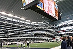 Dallas Cowboys and the Miami Dolphins in action during the Thanksgiving Day game at the Cowboys Stadium in Arlington, Texas. Dallas defeats Miami 20 to 19.